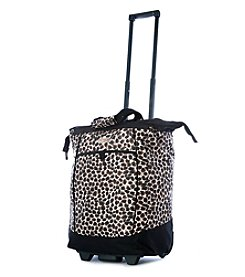Olympia Leopard Rolling Shopper Tote