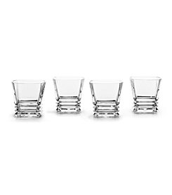 Mikasa® Maria Set of 4 Crystal Double Old Fashioned Glasses