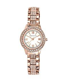 Anne Klein® Rose Goldtone Bracelet Watch with Swarovski Crystals