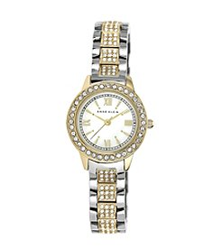 Anne Klein® Two-Tone Bracelet Watch with Swarovski Crystals