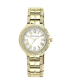 Anne Klein® Goldtone Link Bracelet Watch with Roman Numeral Dial
