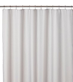 Excell Pure Horizontal Gray Stripe Shower Curtain