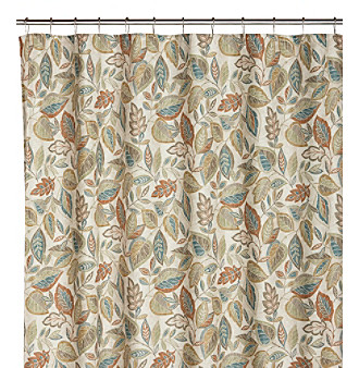 70 UPC 034299109717 Product Image For Excell Jacobean Leaf Spice Shower Curtain