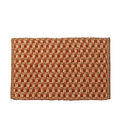 LivingQuarters Chindi Basket Weave Accent Rug