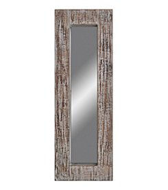 Sheffield Home® Distressed Narrow Ivory Wood Mirror
