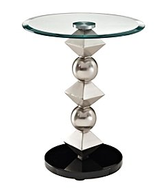 Powell® Max Metal and Glass Table