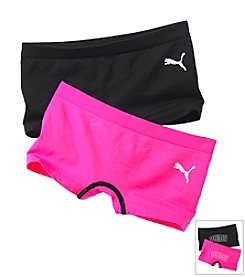 PUMA® Girls' 2-Pack Boy Shorts