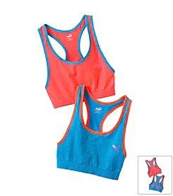 PUMA® Blue/Orange 2-pk. Sports Bras