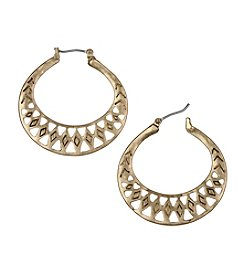 The Sak® Goldtone Openwork Metal Hoop Earrings