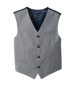 Calvin Klein Boys' 8-20 Grey Sharkskin Vest