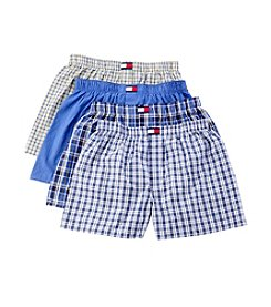 Tommy Hilfiger® Men's Yellow/Blue 4-Pack Woven Boxers