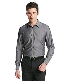 Calvin Klein Men's Long Sleeve Chambray Button Down Shirt