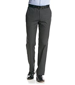 Calvin Klein Men's Dark Cliff Heather Fine Striped Straight Fit Pants