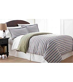 Shavel Home Products Micro Flannel® Awning Stripe Comforter Set