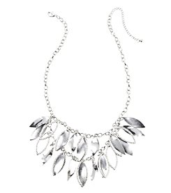 Relativity® Silvertone Two Row Shaky Necklace