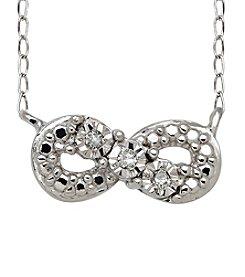 Di Aura Mini Infinity Pendant in Sterling Silver