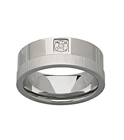 .015 ct. t.w. Diamond Stainless Steel Ring