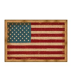 Greenleaf Art Vintage USA Flag Framed Canvas Art