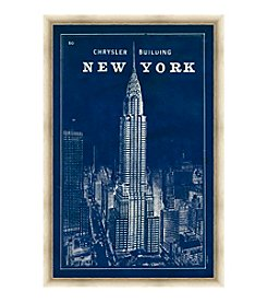 Greenleaf Art New York Chrysler Building Framed Canvas Art