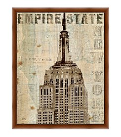 Greenleaf Art Empire State Framed Canvas Art