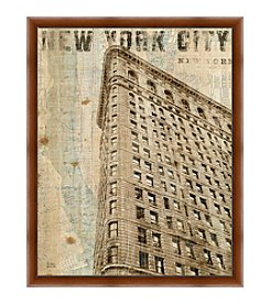 Greenleaf Art New York City Building Framed Canvas Art
