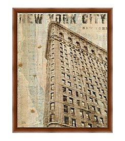 Greenleaf Art New York City Building Framed Canvas Art