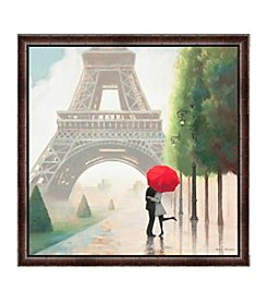 Greenleaf Art Paris Love Framed Canvas Art