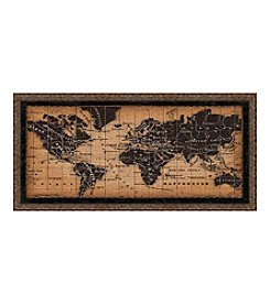 Greenleaf Art Global Map Framed Canvas Art