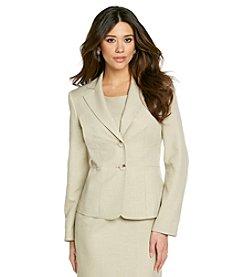 Le Suit® Plus Size Basic Notch Collar Jacket