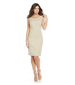 Le Suit® Plus Size Basic Glazed Mélange Sheath Dress