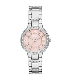 Fossil® Women's Virginia Watch in Polished Silvertone