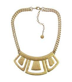 The Sak® Goldtone Hinged Metal Geometric Bib Necklace