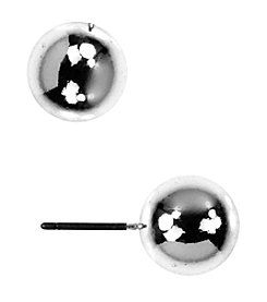 Anne Klein® Silvertone Ball Stud Earrings