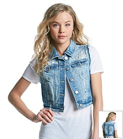 Wallflower® Embroidered Denim Vest