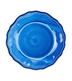 LivingQuarters Melamine Blue Salad Plate