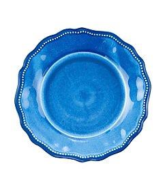 LivingQuarters Melamine Blue Dinner Plate
