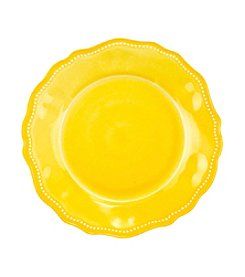 LivingQuarters Melamine Yellow Dinner Plate