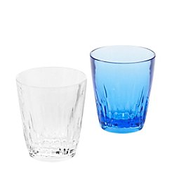 LivingQuarters Crystal Cut Double Old Fashioned Glass