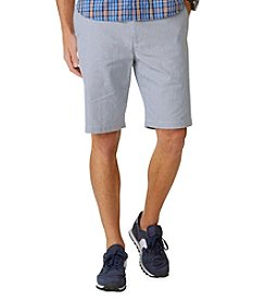 Dockers® Men's Navy Striped Flat Front Short