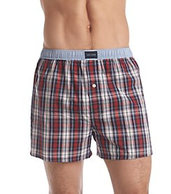 Tommy Hilfiger® Men's Deep Red 1-Pack Tartan Woven Boxer