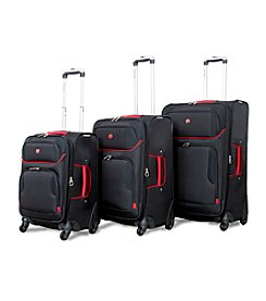 SwissGear® Black and Red Luggage Collection