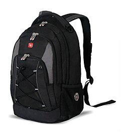 SwissGear® Black and Gray Bungee Backpack