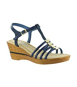 "Bella Vita® ""Caramelle"" Ornamented Wedge Sandals"