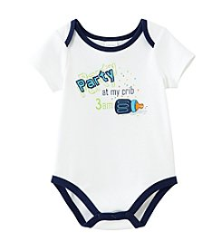 Cuddle Bear® Baby Boys' Classic White Party at My Crib Bodysuit