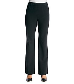 Briggs New York® Stretch Waistband Solid Pull On Pants