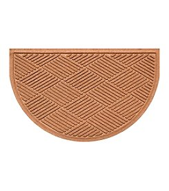 Bungalow Flooring WaterGuard Diamonds Pattern Half Oval Mat