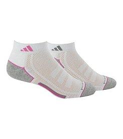 adidas® White/Mono Pink Women's 2 Pk. ClimaCool Low-Cut Socks