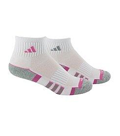 adidas® ClimaLite Cushion Quarter Socks 2-Pack