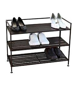 Oceanstar 3-Tier Stackable Slotted Metal Shoe Storage Shelf *