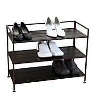 Oceanstar 3-Tier Stackable Solid Metal Shoe Storage Shelf